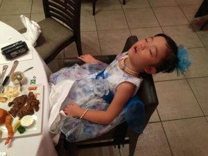 せっかくの食事、見事に寝ちゃいまいました笑
