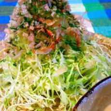 春キャベツがたくさん食べられるお好み焼き風サラダ