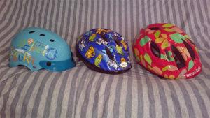 3 helmets