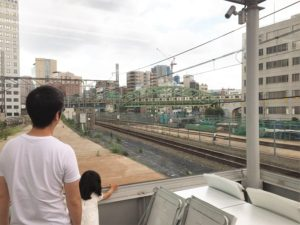 「鉄橋の上、走ってるよ~!」