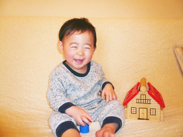 赤ちゃんの笑顔がいちばん♡